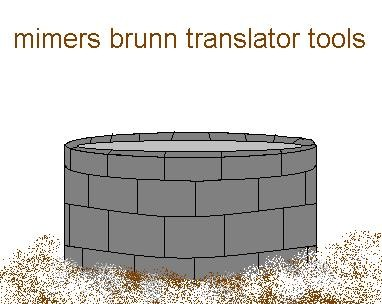 Mimers brunn Translator tools